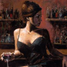 Fabian Perez art gallery, committed to offering great prices to the public. We specialize in Fabian Perez original paintings and limited edition prints. Fabian Perez, Woman Painting, Figure Painting, Art Du Vin, Jack Vettriano, Spanish Girls, Spanish Wine, Wine Art, Pulp Art