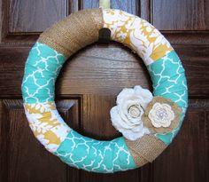 Easy DIY front door wreath!