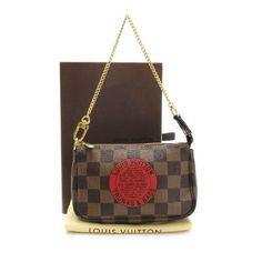 Louis Vuitton T&B Mini Pochette Accessories Damier Ebene Small bags Brown Canvas N58011