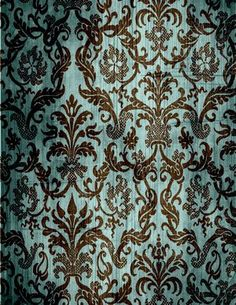 Vintage Blue Victorian Wallpaper- love it in a small amount!