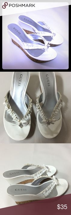 Guess sexy white heels very comfortable sz 8 m Guess white sexy heels size 8 GWP I TERY to all man-made materials medium rare very comfortable awesome looking shoesnon-smoking home after delivery at a great deal GUESS Shoes Heels