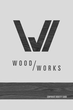 Wood Works Identity Minimalist Graphic Design, Graphic Design Branding, Logo Branding, Wm Logo, Logos, Paper Logo, Woodworking Logo, Studio Logo, Inspirational Posters
