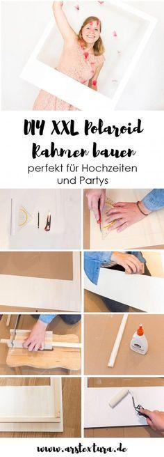 DIY XXL Polaroid Rahmen aus Holz basteln - perfekt für deine Hochzeit oder Party