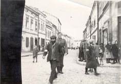 Nowy Sacz, Poland, Jews and German soldiers in a ghetto street, 1940.  Yet another unintentional masterpiece.