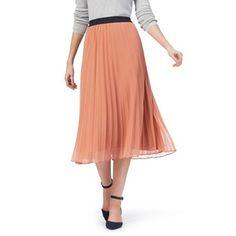 J by Jasper Conran Coral pleated skirt | Debenhams