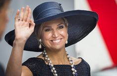 On May 20, 2016, Queen Maxima of The Netherlands baptizes the cruise ship MS Koningsdam from Holland America Line at the ceremony, held at the harbour of Rotterdam. The ship weighs 99,500 tonnes, measures 297 meters in length and can accommodate 2,650 guests.(Queen Maxima wore Natan Dress)
