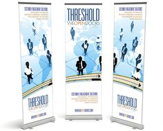 Trade Show Banner Graphic Design for Threshold We Open Doors