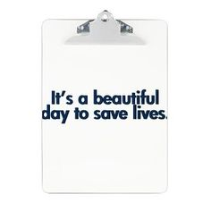 Must have this clipboard with a famous quote from Derek Shepherd!