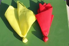 DIY Football Penalty and Challenge Flags for football watching!