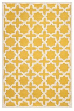 New Modern Moroccan Wool Rug 4' x 6' Gold Safavieh in Lincoln Square, New York, NY, USA ~ Krrb