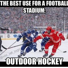 So true!!!!  Only reason I can think of to ever go to a football stadium! Haha. So jealous of my girlfriend and her husband. Perks of working for the leafs :)