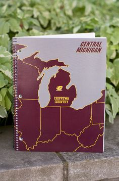 Michigan Flying C Chippewas Country 70 Sheets College Ruled Notebook Central Michigan