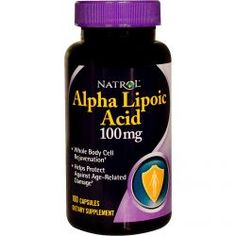 Natrol, Alpha Lipoic Acid, 100 Mg, 100 Capsules, Diet Suplements 蛇