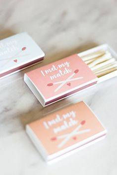 Adorable and colorful DIY matches wedding favor tutorial Edible Wedding Favors, Unique Wedding Favors, Wedding Crafts, Wedding Decor, Wedding Ideas, Sticker Printer Paper, Cricut Wedding, Wedding Matches, Disney Diy