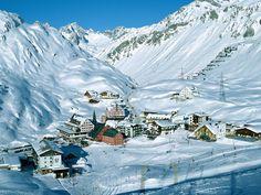 Ski resort at Arlberg in Austria