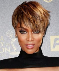 25 big short hair Ombre options - Hairstyle Fix Big Short Hair, Short Blonde, Short Hair Cuts, Tyra Banks Short Hair, Bob Hairstyles, Straight Hairstyles, Black Hairstyles, Hairstyle Images, American Hairstyles