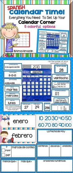 Spanish - Calendar Time Everything You Need! Also available in English