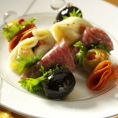 Antipasto Kabobs. Add a little fresh mozzarella ball and grape tomato and this is a perfect summer snack.