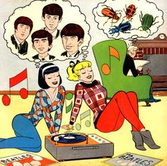 betty & veronica love the Beatles this is from a 1960s comic