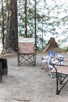 The Beginner's Guide to Camping part two explains in detail what food to bring and how to set up your campsite. Easy directions!