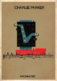 "ARCHIMUSIC: Illustrations Turn Music Into Architecture - Federico Babina / Charlie Parker, ""Confirmation"""