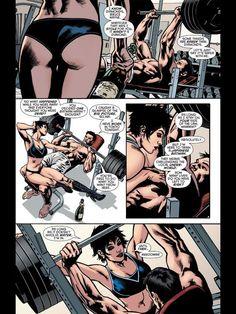 Selina Kyle and Bruce Wayne in Batman Inc #1: