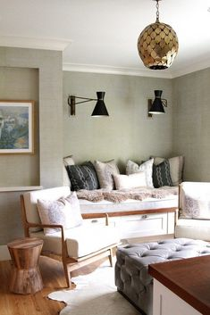Modern pendant in bedroom space