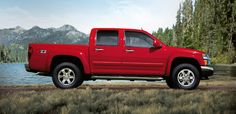 2012 Chevrolet Colorado in Victory Red: starts @ 17K; MPG=18 city/24 hwy