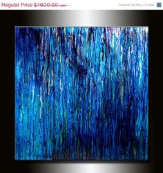 HUGE ORIGINAL abstract Painting Contemporary by newwaveartgallery, $1408.00