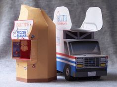 Arrested Development - Banana Stand and Stair Car - print out + foldables