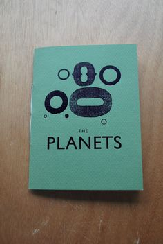 The Planets Letterpress Zine by megbentley on Etsy