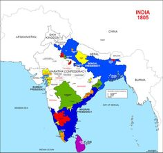 Map of India, 1805 History Of India, British History, Namaste India, India Images, India Map, Unity In Diversity, India Culture, Old Maps, Historical Maps