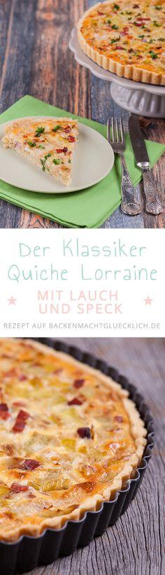 Quiche Lorraine ist ein klassischer pikanter Kuchen aus Frankreich, der sich perfekt zum Brunchen, als Vorspeise oder Hauptgericht für ein Abendessen mit Freunden eignet. Unsere Lieblingsvariante der Quiche Lorraine enthält besonders viel Lauch und mageren Speck.