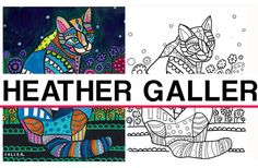 55% Off- cat coloring, coloring book, adult coloring book, coloring pages, adult coloring pages, coloring book for adults, printable colorin