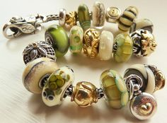 Mock Turtle Soup! A bracelet by a great collector on Trollbeads Gallery Forum! www.TrollbeadsGalleryForum.Ning.com