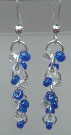 Beaded dangle earrings #handmade #jewelry #bead #beading by Lilian Monte