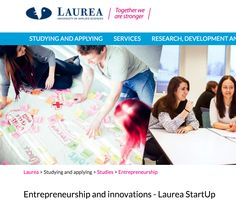 Develop your business during your studies (personalized study path, LaureaES,Networking) https://www.laurea.fi/en/studying-and-applying/studies/entrepreneurship