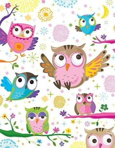 owl pattern ♥ by flamingrhino Decoupage, Owl Wallpaper, Mobile Wallpaper, Whimsical Owl, Owl Pictures, Beautiful Owl, Owl Crafts, Owl Patterns, Print Patterns