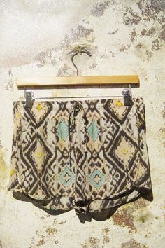 Obsessed with these Rory Beca silk ikat shorts