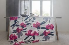 Pentik is an international interior design retailer, who wants to bring northern beauty and cosiness to homes. Interior, Table Cloth, Colours, Printed Shower Curtain, Refined, Modern Colors, International Interior Design, Interior Design, Scandinavian Interior