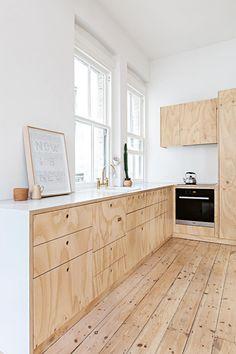 kitchen-plywood white