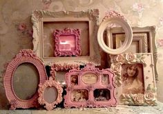Shabby Ornate Open Picture Frames Vintage Style~Wedding~Roses Romantic Lot 10  #Cottage