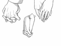 Manga Drawing Techniques How To Draw Anime Hands Drawing Anime Hands, Holding Hands Drawing, Couple Holding Hands, Hand Holding, Manga Drawing Tutorials, Drawing Techniques, Art Tutorials, Hand Reference, Drawing Reference
