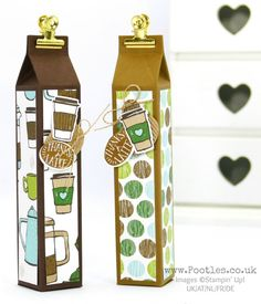 Stampin' Up! Demonstrator Pootles – Tall Skinny Latte Box using Coffee Break Suite Spin it, then Pin it! It's official. Coffee Break, Coffee Cafe and Coffee Cups, the whole suite,…