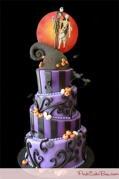 Nightmare before christmas cake - tim burton could have made this!