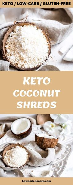 HOMEMADE COCONUT SHREDS Those Homemade Coconut Shreds From Scratch will change your way in Keto or Low Carb kitchen pantry. Made from desiccated shredded coconut, perfect for gluten-free, dairy-free, grain-free baking and excellent for diabetics. How to use unsweetened coconut shreds? Use them to Make Coconut Milk first, add them to our Low Carb Granolas. Pantry ingredient you can make at home Make Coconut Milk, Shredded Coconut, Grain Free, Dairy Free, Gluten Free, Low Carb Granola, Kitchen Pantry, Low Carb Keto, Diet