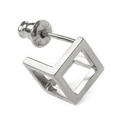 MEHEM silver pierced earring sold MH133-JP061-600 #mehem #piercedearring #silver #rhodiumplated #solid #em #normcore #emgrp