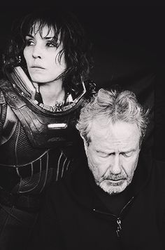 Prometheus - Noomi Rapace and Ridley Scott