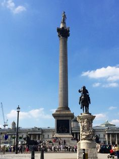 Nelson's column in Trafalgar Square, London Nelson's Column, London Blog, Trafalgar Square, Cn Tower, Scene, Architecture, Travel, Life, Arquitetura