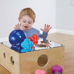 A super sensory sorting block for posting, sorting, collecting and investigating. Uk Sites, Activities For 2 Year Olds, Sorting, Toy Chest, Children, Infant Toddler, Infants, Toddlers, Copper